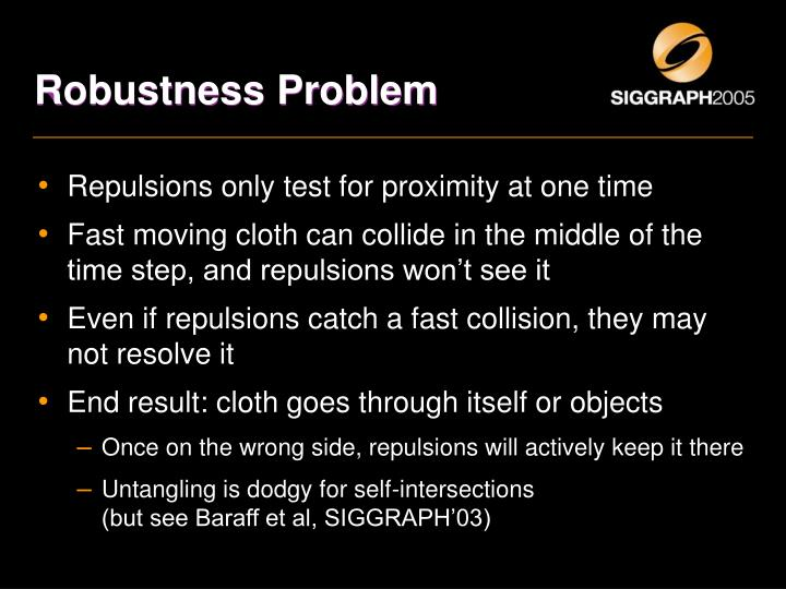 Robustness Problem