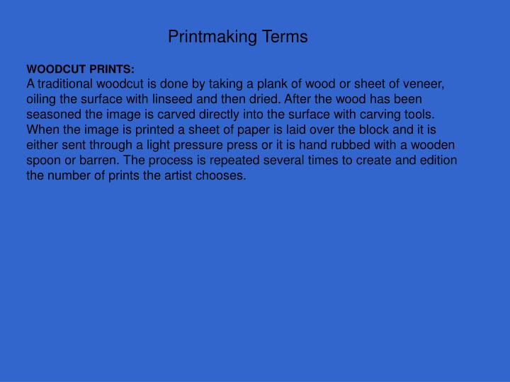 Printmaking terms1