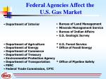 federal agencies affect the u s gas market