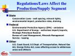 regulations laws affect the production supply segment
