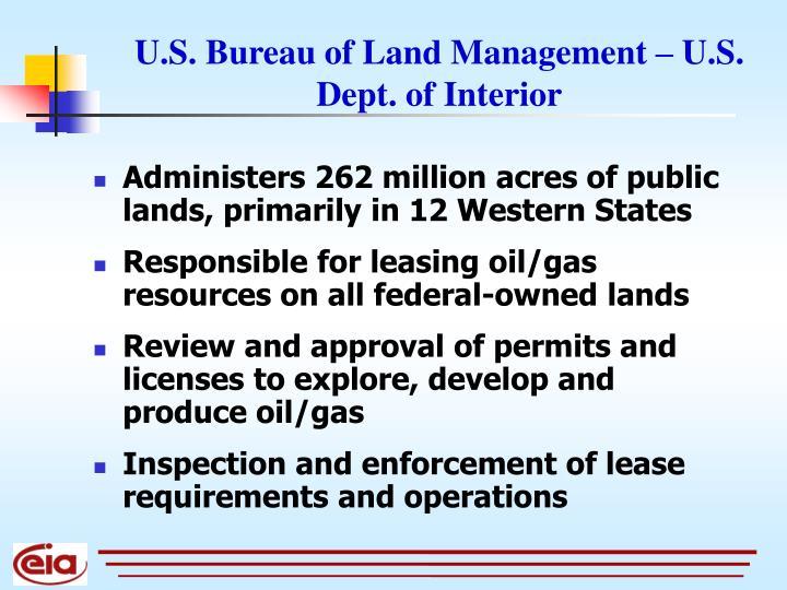 U.S. Bureau of Land Management – U.S. Dept. of Interior