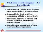 u s bureau of land management u s dept of interior