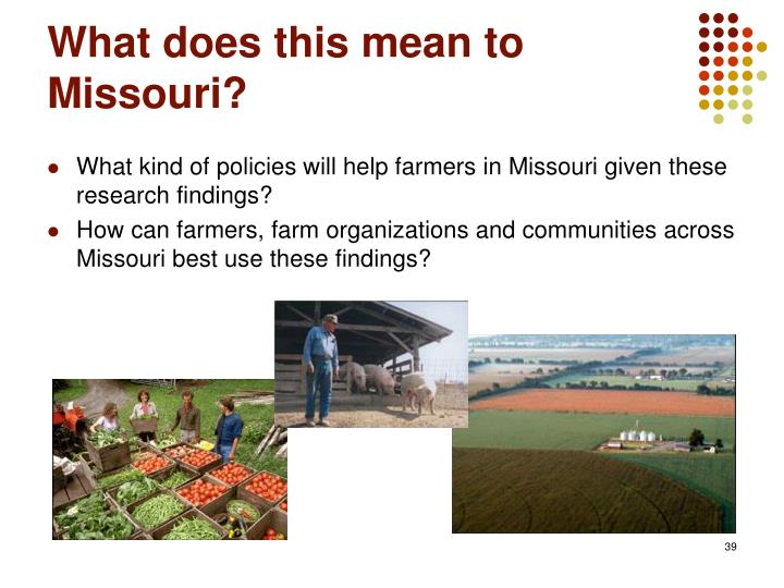 What does this mean to Missouri?