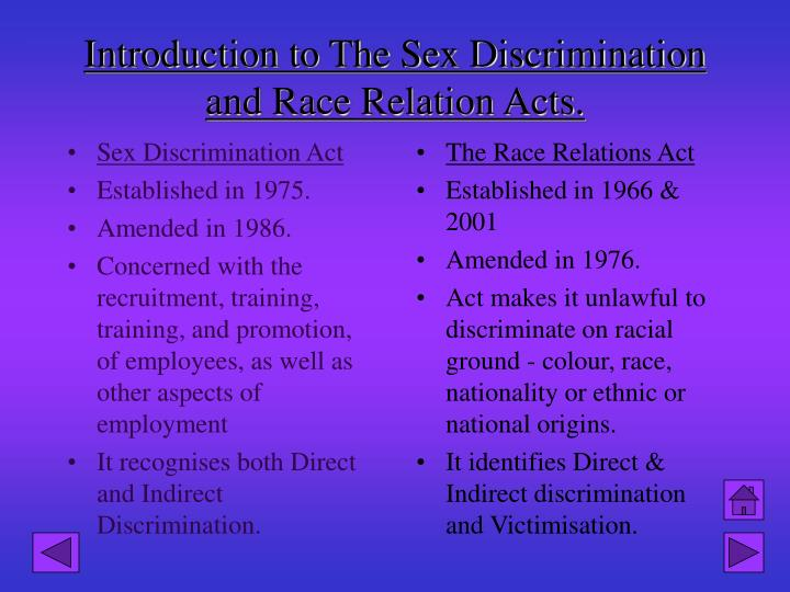 race relations act 1976 essay Relations act 1976 & 2000: schools have obligation to uphold good relationships between people from different backgrounds schools now required to have a race equality policy in place the legislation gave powers to tackle racism by making direct or indirect discrimination illegal.