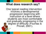 what does research say1
