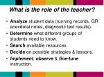 what is the role of the teacher