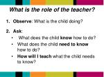 what is the role of the teacher1