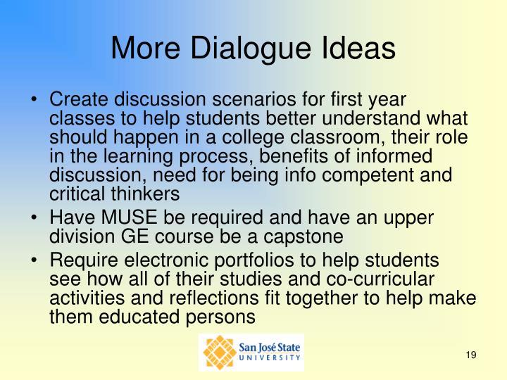 More Dialogue Ideas
