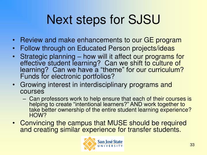 Next steps for SJSU