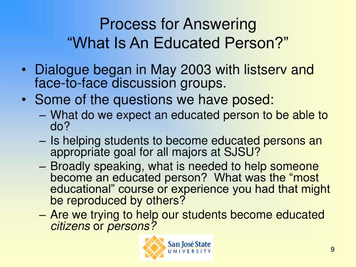 Process for Answering