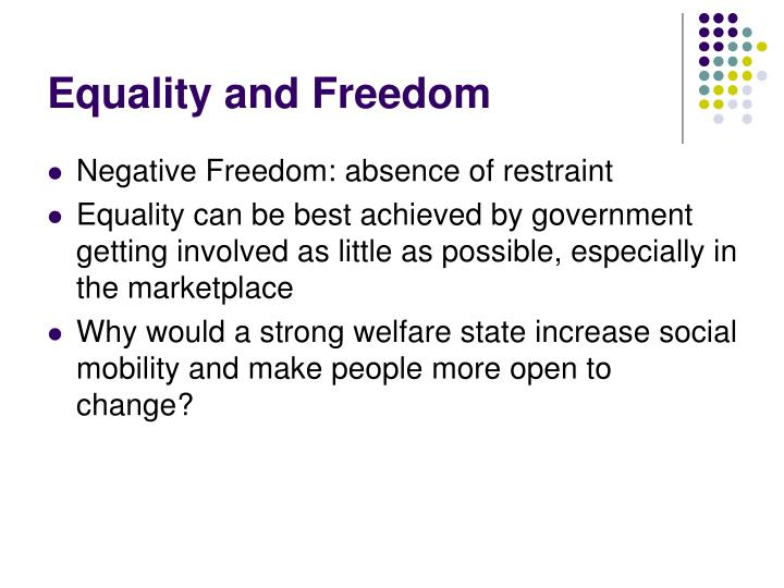Equality and Freedom