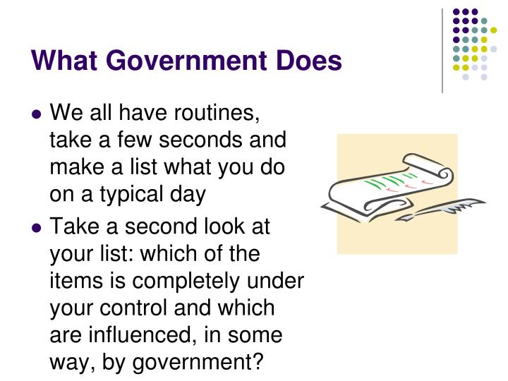 What Government Does