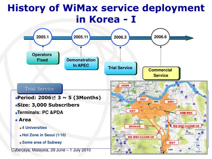 History of WiMax service deployment in Korea - I