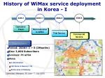 history of wimax service deployment in korea i