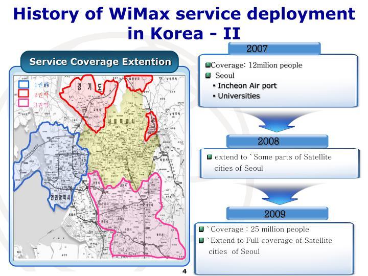History of WiMax service deployment in Korea - II