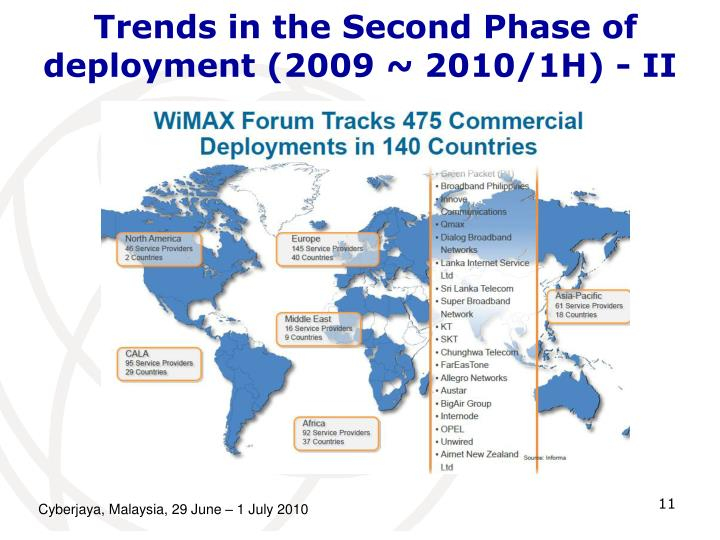 Trends in the Second Phase of deployment