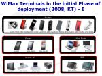 wimax terminals in the initial phase of deployment 2008 kt i