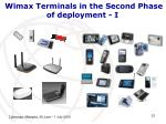 wimax terminals in the second phase of deployment i