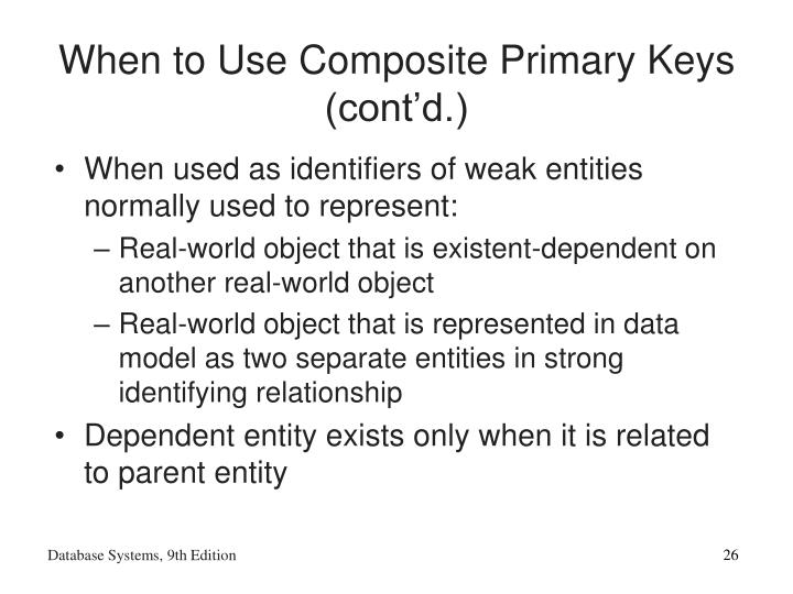 When to Use Composite Primary Keys