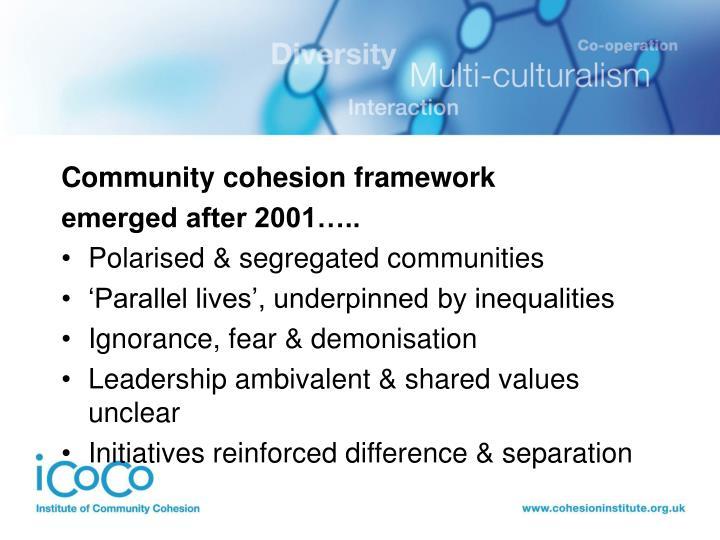 Community cohesion framework