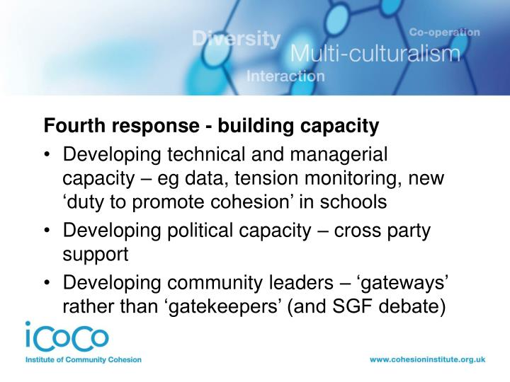 Fourth response - building capacity