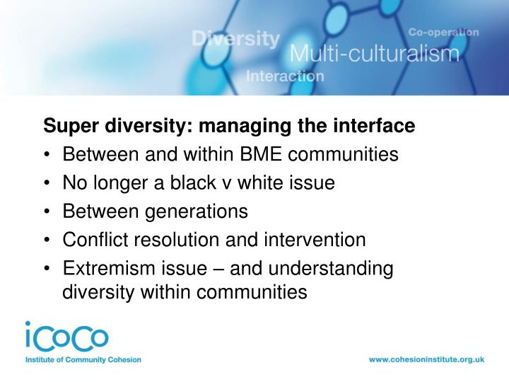 Super diversity: managing the interface