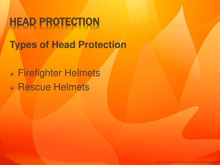 Types of Head Protection
