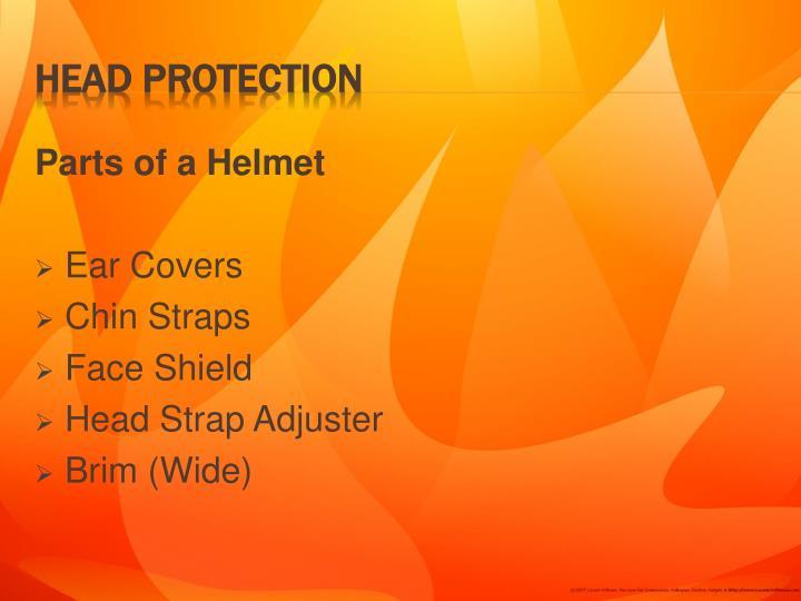 Parts of a Helmet