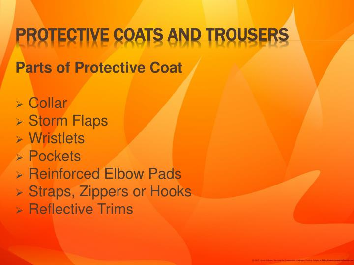 Parts of Protective Coat
