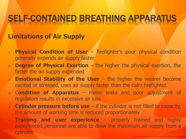 Limitations of Air Supply
