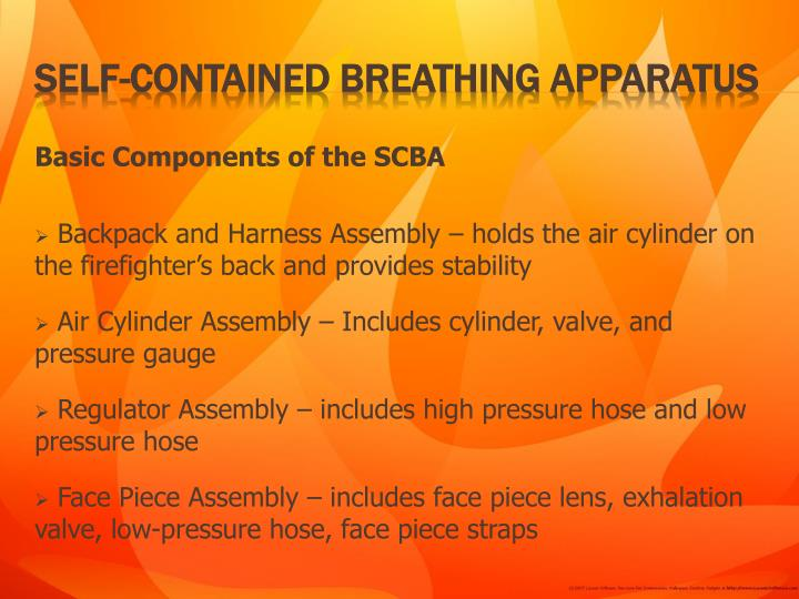 Basic Components of the SCBA