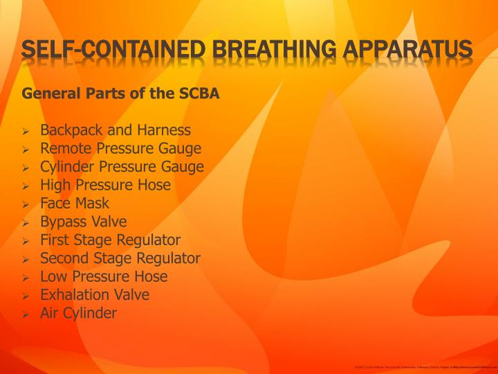 General Parts of the SCBA