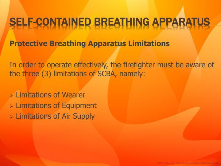 Protective Breathing Apparatus Limitations