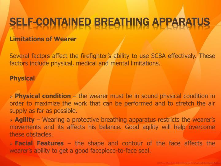 Limitations of Wearer