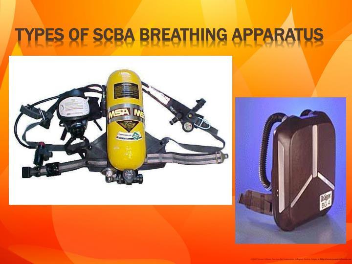 Types of SCBA breathing apparatus