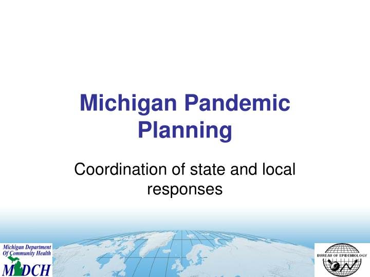 Michigan Pandemic Planning