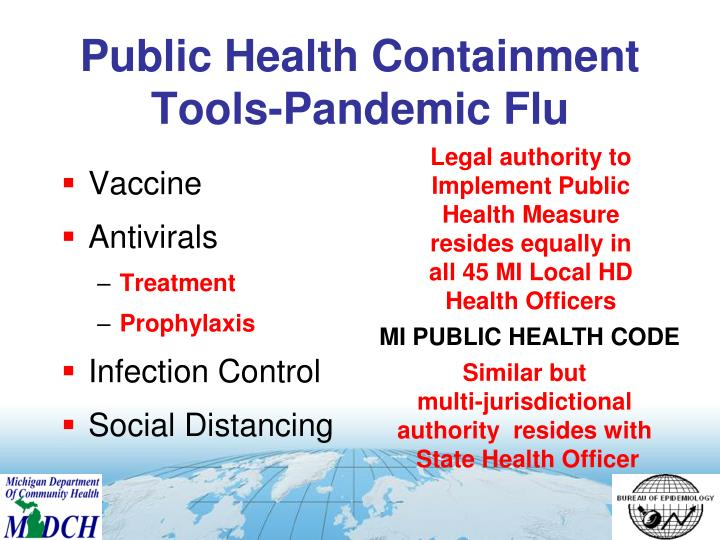 Public Health Containment Tools-Pandemic Flu