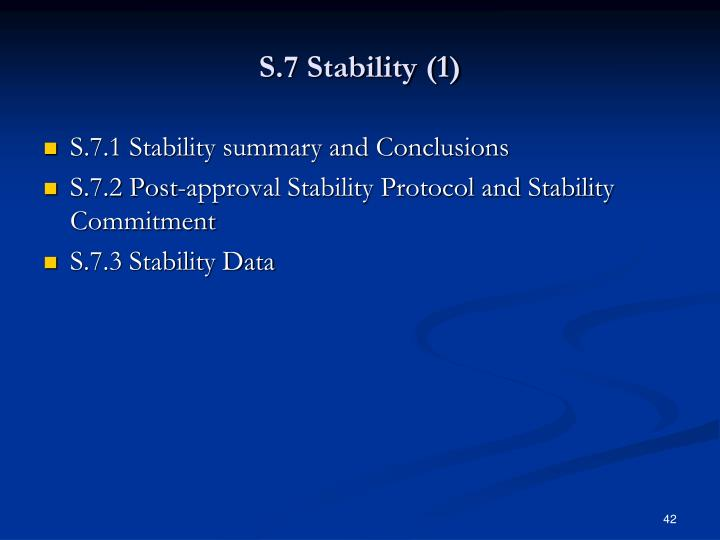 S.7 Stability (1)