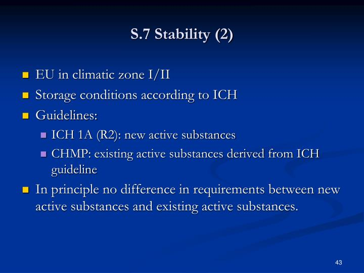 S.7 Stability (2)