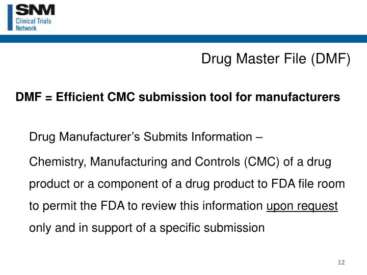 Drug Master File (DMF)