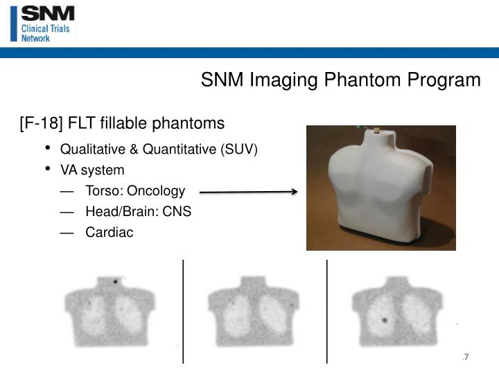 SNM Imaging Phantom Program