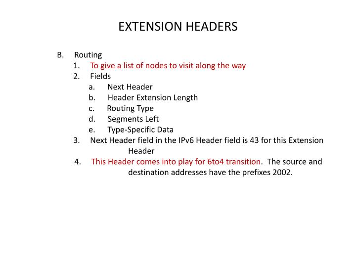 EXTENSION HEADERS