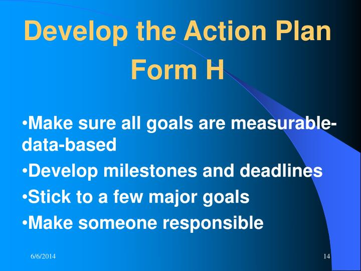 Develop the Action Plan