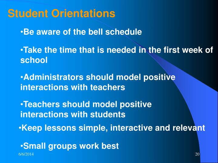 Student Orientations