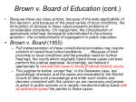 brown v board of education cont