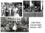 little rock central high school 1957