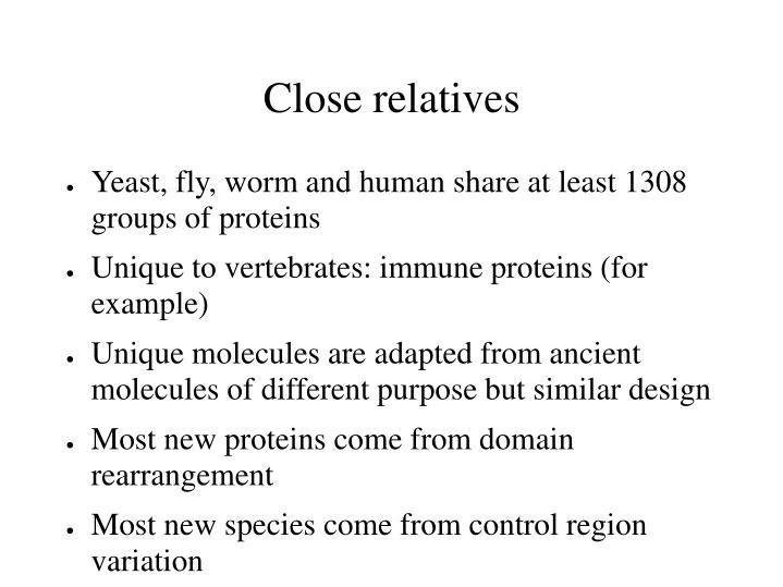 Close relatives