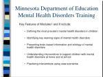 minnesota department of education mental health disorders training1