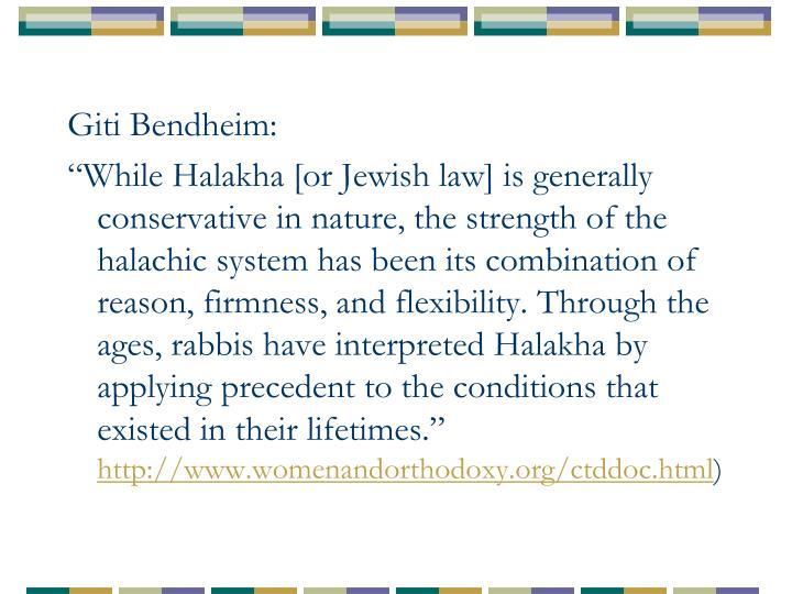 Giti Bendheim: