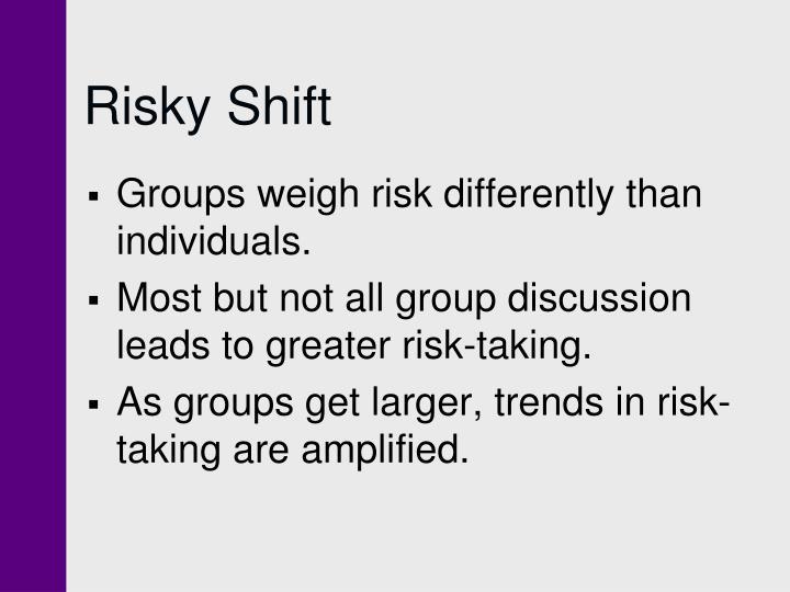 Risky Shift